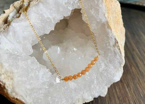 Peach Jade Necklace