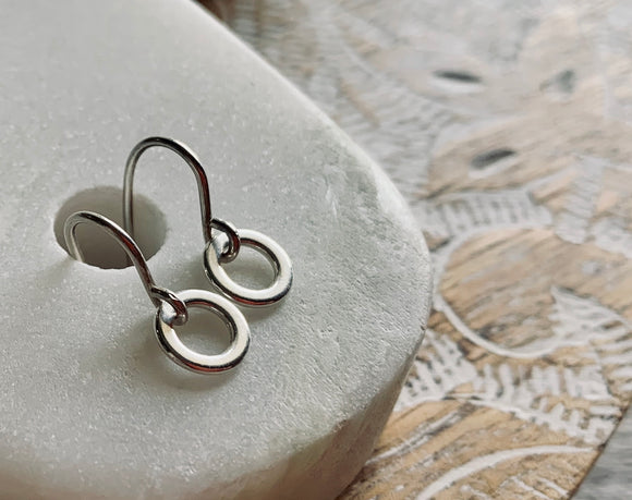 Clarice Hoop Earrings in Bronze and Silver