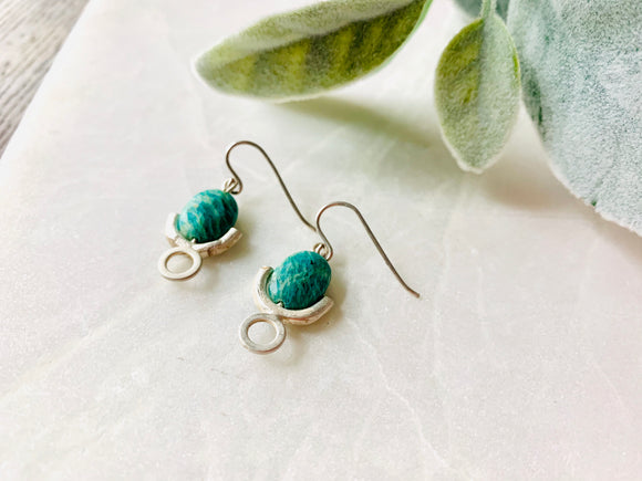 Brianna Earrings with Amazonite