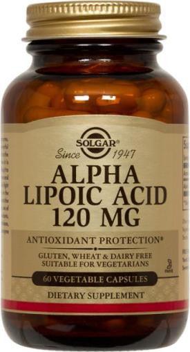 Solgar Alpha Lipoic Acid 120 mg Vegetable Capsules (60)