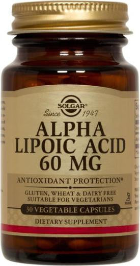 Solgar Alpha Lipoic Acid 60 mg Vegetable Capsules (60)