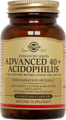 Solgar Advanced 40+ Acidophilus Vegetable Capsules (60)