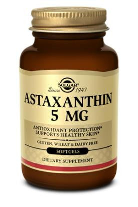 Astaxanthin 5mg Softgels (30) from Solgar