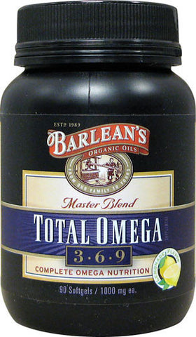 Barlean's Organic Oils Master Blend Total Omega 3-6-9 (90 softgels)
