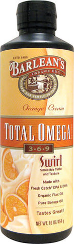 Barlean's Total Omega Orange Cream Swirl (multiple varieties)
