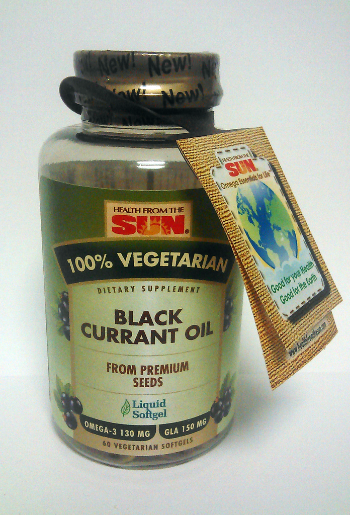 Health From The Sun Black Currant Oil 1000mg (60 softgels)