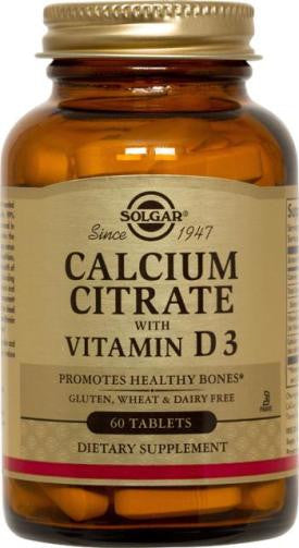 Calcium Citrate with Vitamin D3 Tablets (60)