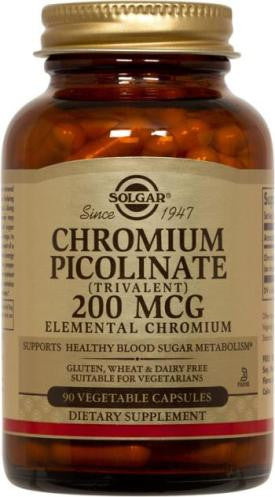 Chromium Polynicotinate 200 mcg Vegetable Capsules (100)