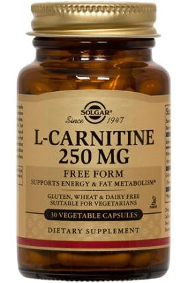 L-Carnitine 250 mg Vegetable Capsules (60)