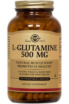 L-Glutamine 500 mg Vegetable Capsules (100)