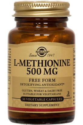 L-Methionine 500 mg Vegetable Capsules (60)