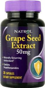 Natrol Grape Seed Extract 50mg (30 capsules)