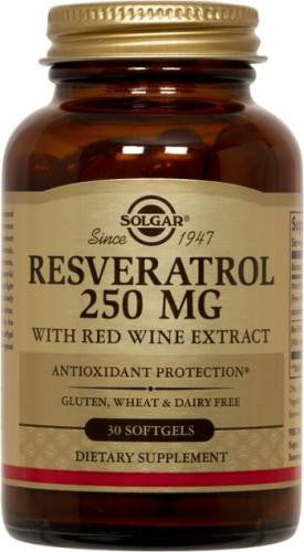 Resveratrol 250 mg with Red Wine Extract Softgels