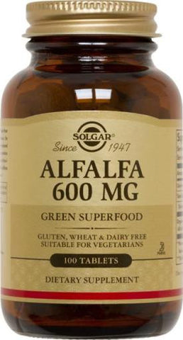 Alfalfa 600 mg Tablets (multiple varieties)