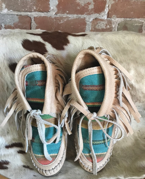 Holy Cow couture Serape moccasins