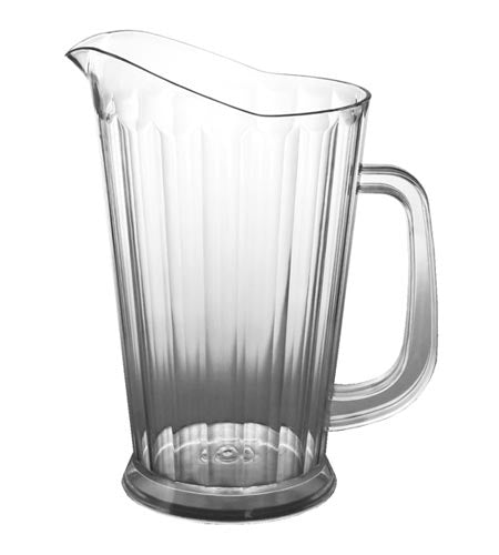 BarConic SAN Plastic Clear Pitcher 60 oz - CASE OF 12