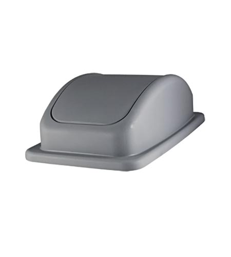 Space Saver Trash Can Lid, Grey - CASE OF 4