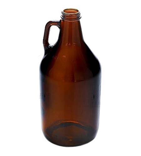 Amber Glass Beer Growler - 64oz - CASE OF 6