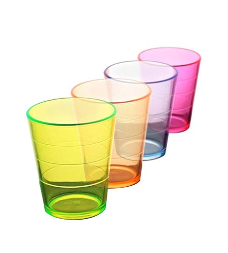 2OZ THICK ASSORTED PLASTIC SHOT GLASS