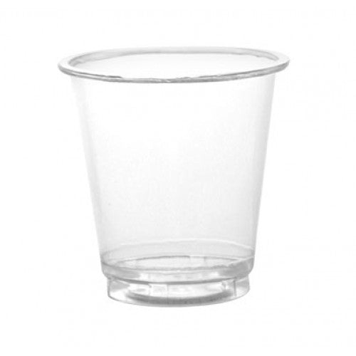BarConic 3oz clear plastic shooter glasses - CASE OF 25 / 100 PACKS
