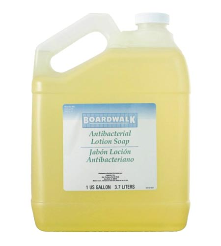 Boardwalk Liquid Hand Soap Antibacterial Pourable 1 Gallon Bottle - CASE OF 4