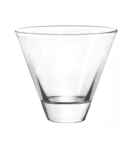 BarConic Stemless Cocktail/Martini Glass 8 oz - CASE OF 48