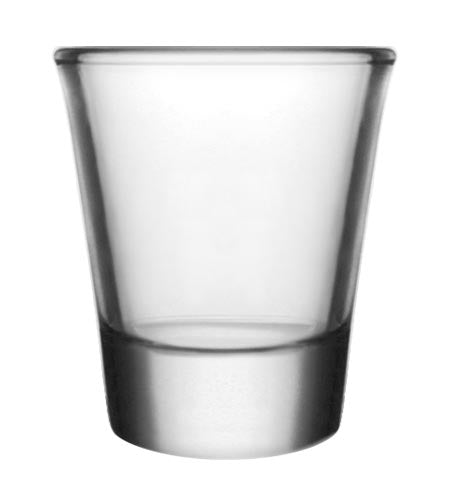 BarConic Clear Thick Base Shot Glass 1.5 oz - CASE OF 72