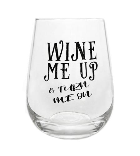 Wine Me Up Stemless Wine Glass - 17 oz - CASE OF 24