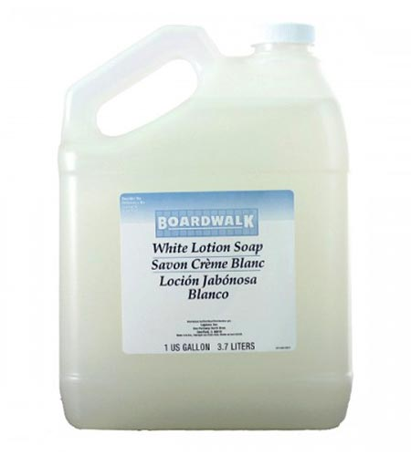Boardwalk White Lotion Hand Soap Pourable 1 Gal Bottle - CASE OF 4