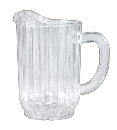 32oz Water Pitcher - Clear SAN Plastic - CASE OF 12