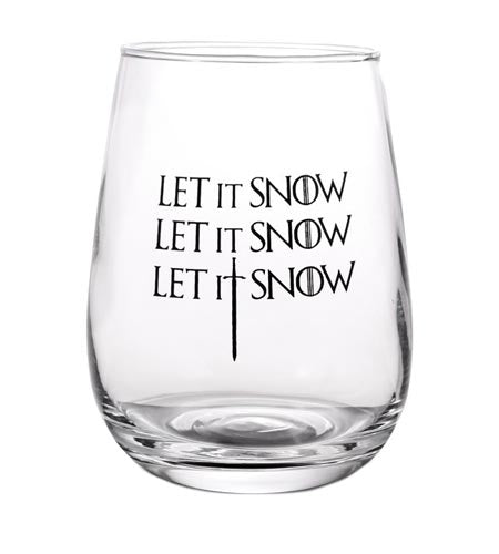 Let It Snow Stemless Wine Glass - 17 oz - CASE OF 24