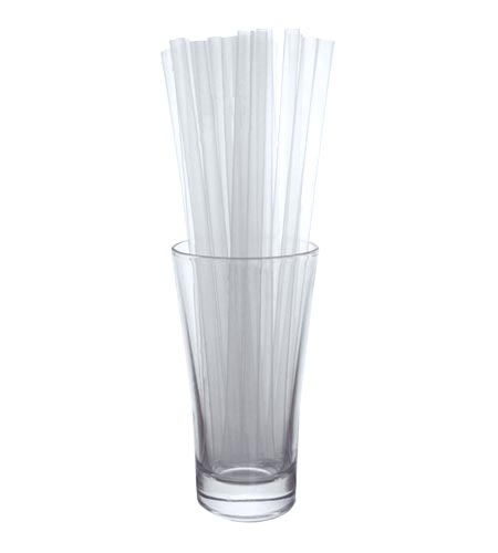 BarConic 8 inch Straws - Clear - CASE OF 30 / 250 PACKS