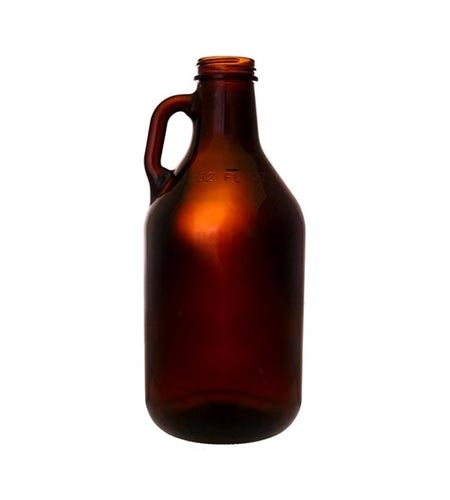 Amber Glass Beer Growler - 32oz - CASE OF 12