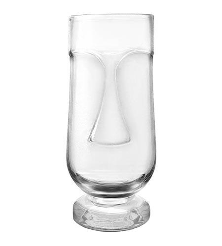 BarConic Tiki Face Cocktail Glass - 20 oz - CASE OF 36