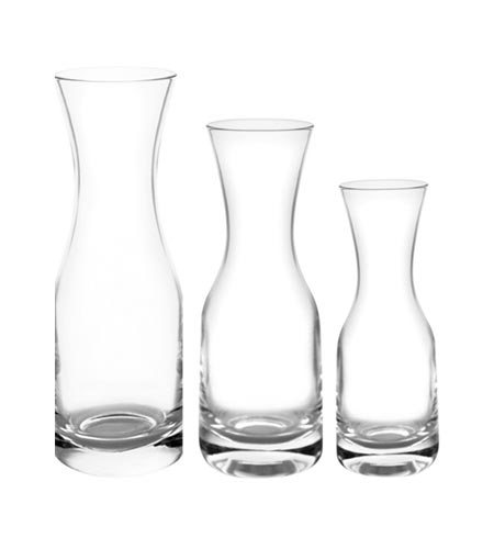Glass Wine Carafes - SIZE OPTIONS