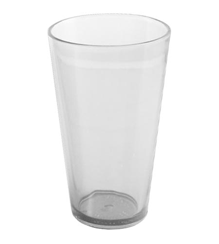 16oz Mixing Glass Plastic Clear - CASE OF 100