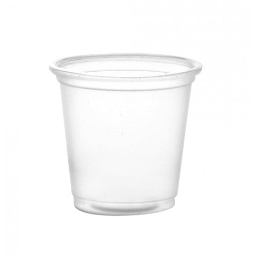 1oz clear plastic cups (100 pack sleeves) - CASE OF 100
