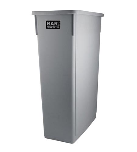 BarConic 33 Gal. Space Saver Trash Can, Gray - CASE OF 4
