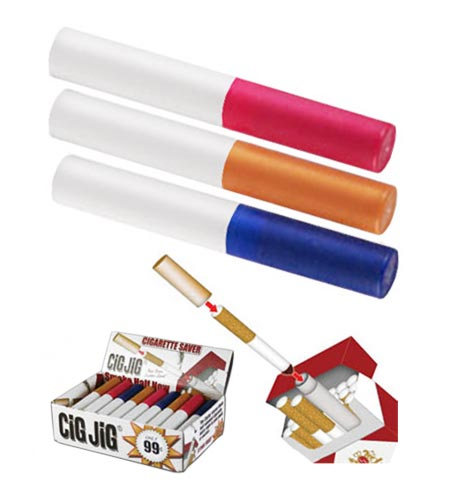CiGJiG® Cigarette Saver - Tan Caps - CASE OF 12 / 30 PACKS