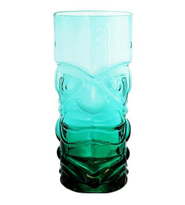 BarConic Tiki Glass - Teal - 15 oz - CASE OF 24