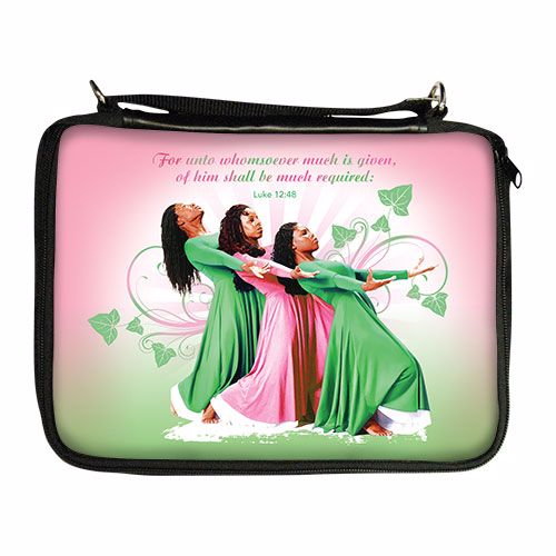 BO133 Three Ladies (Pink and Green) Bible Organizer
