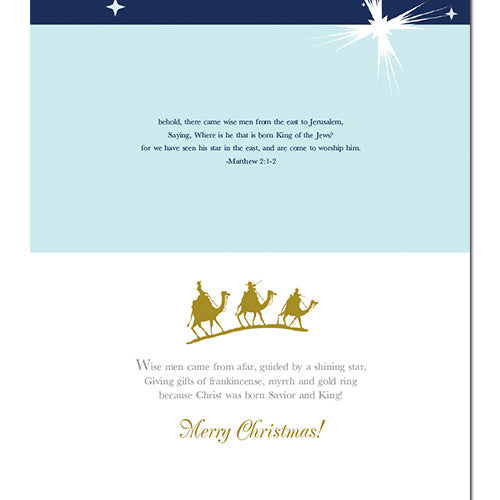 C882 Wise Men Merry Christmas Card