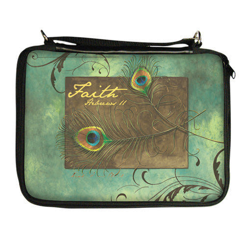 CHBO05 Peacock Feathers Bible Organizer