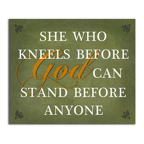 CHWP12 She Who Kneels Wall Plaque