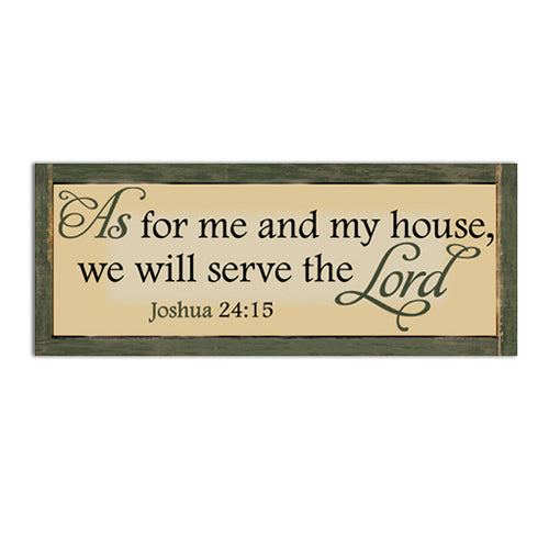 CHWP19 Serve the Lord Wall Plaque