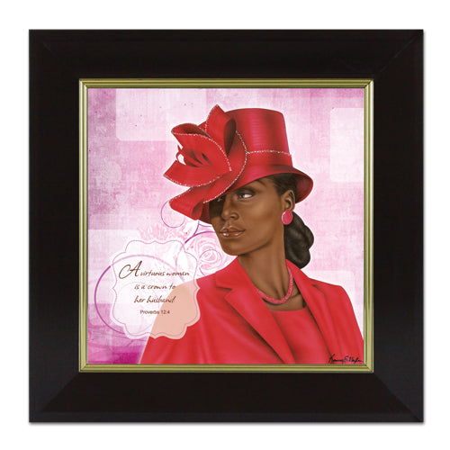 ARTF03 Virtuous Woman Red (Proverbs 124)