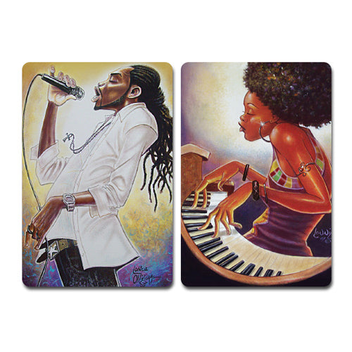 M88 Brother Stand Up/Soul Sista Magnet Set