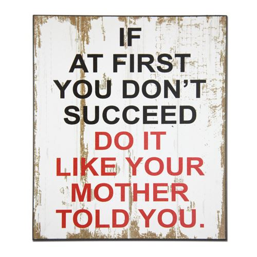CHWP33 Succeed Mother Wall Plaque