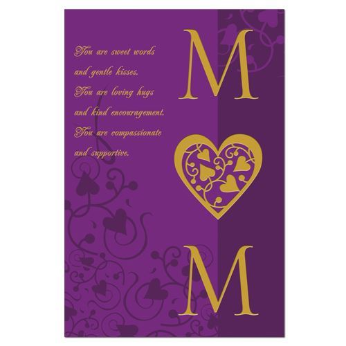 MD47 Purple Compassion Mothers Day Card