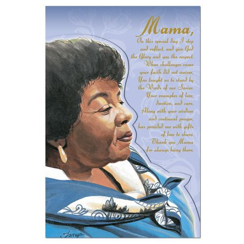 MD59 Mama in Blue Mothers Day Card